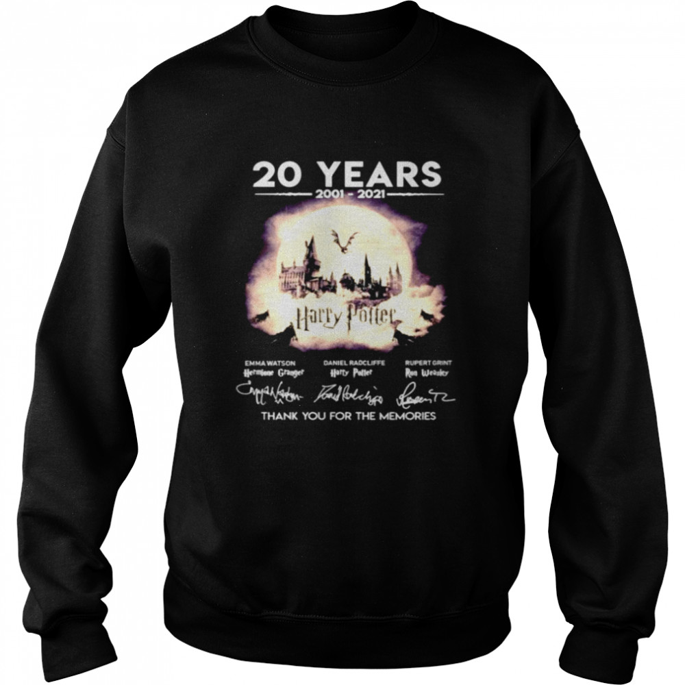 20 years 2001 2021 Harry Potter thank you for the memories  Unisex Sweatshirt