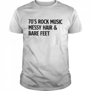 70s rock music messy hair and blue party  Classic Men's T-shirt