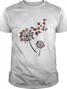Dandelion Rock And Roll Rolling Stone Lips shirt