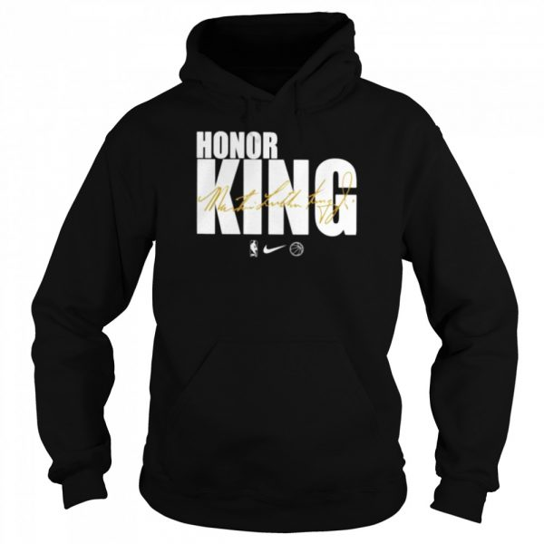 Honor king Dr. Martin Luther King signature  Unisex Hoodie