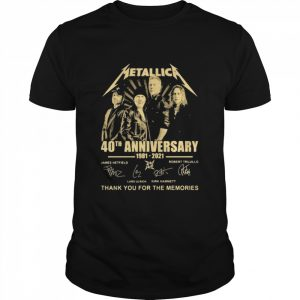Metallica 40th Anniversary Thank You For The Memories Signature  Classic Men's T-shirt