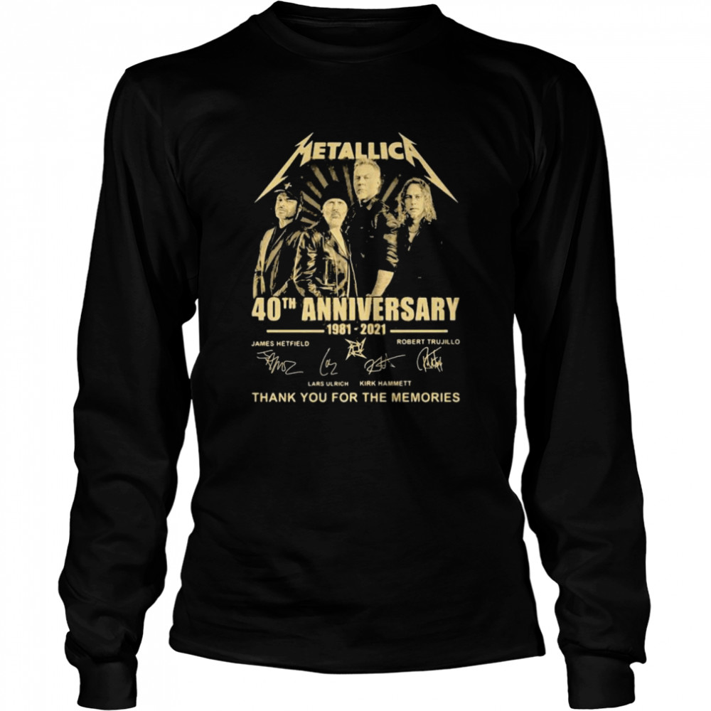 Metallica 40th Anniversary Thank You For The Memories Signature  Long Sleeved T-shirt