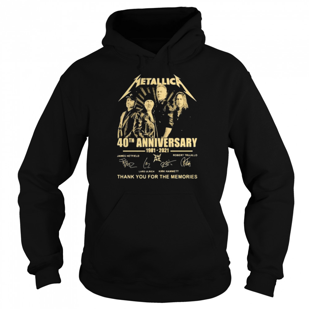 Metallica 40th Anniversary Thank You For The Memories Signature  Unisex Hoodie