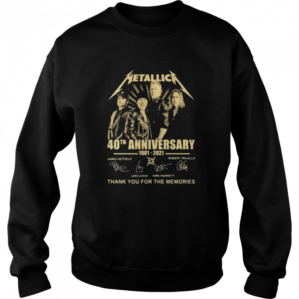 Metallica 40th Anniversary Thank You For The Memories Signature  Unisex Sweatshirt