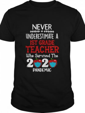Never Underestimate A 1st Grade Teacher Who Survived The 2020 Pandemic shirt
