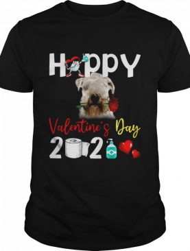 Soft coated Wheaten Terrier Happy Valentines Day With Toilet Paper 2021 shirt