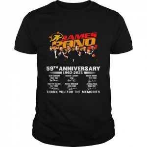 The James Bond Jr 59th Anniversary 1962 2021 Signatures Thank  Classic Men's T-shirt
