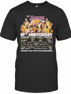The Los Angeles Lakers 60Th Anniversary Thank You For The Memories Signatures T-Shirt